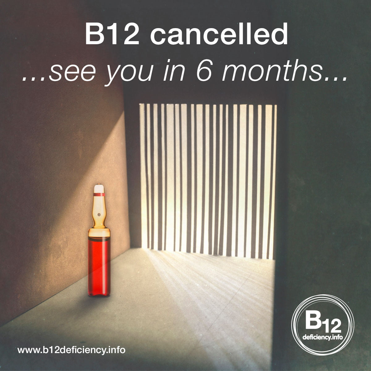 B12 cancelled.  See you in six months…… if you make it
