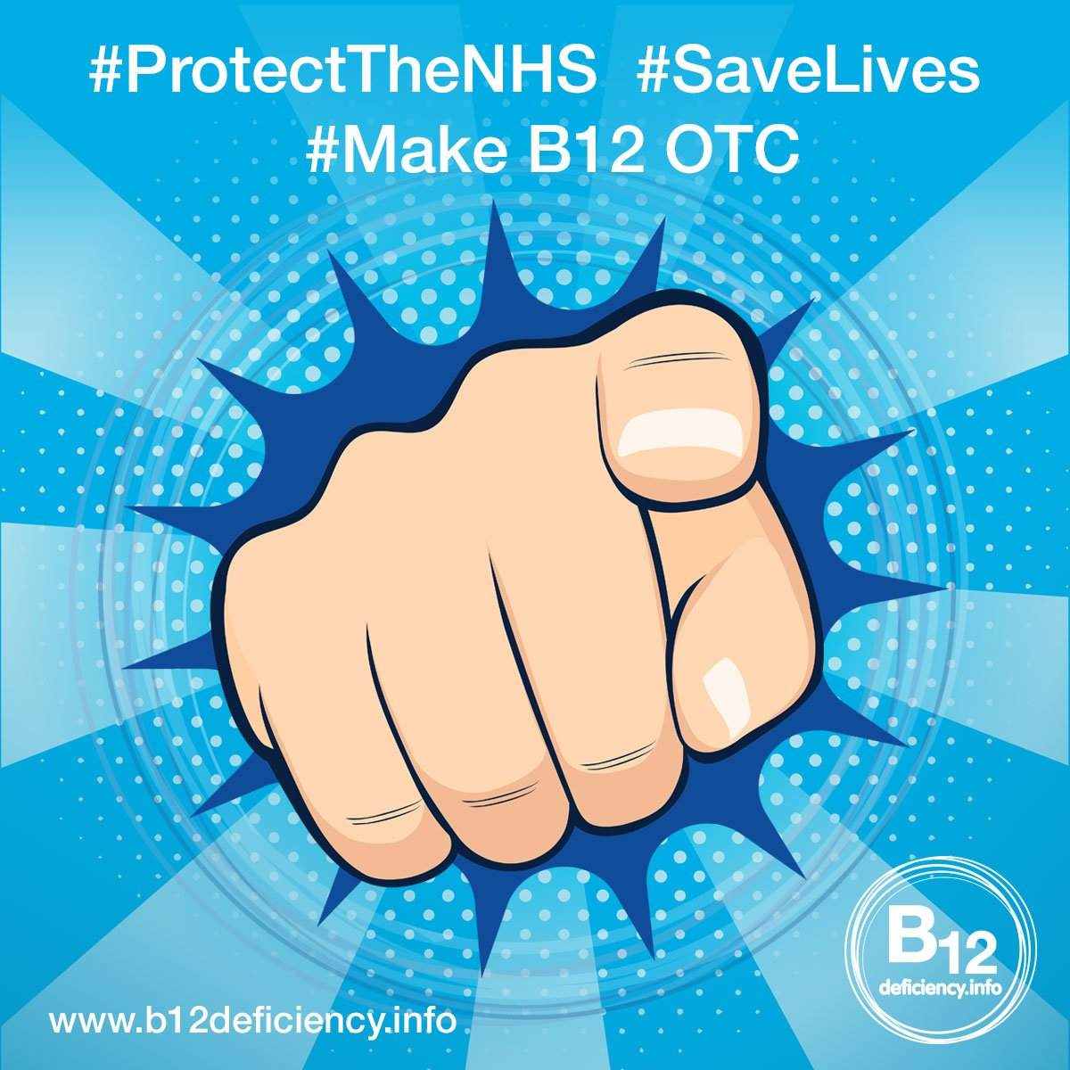 #ProtectTheNHS #SaveLives and #MakeB12OTC
