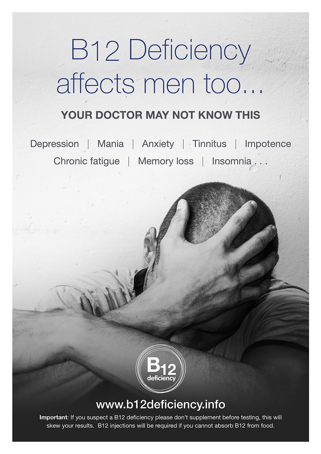 B12 deficiency affects men too…