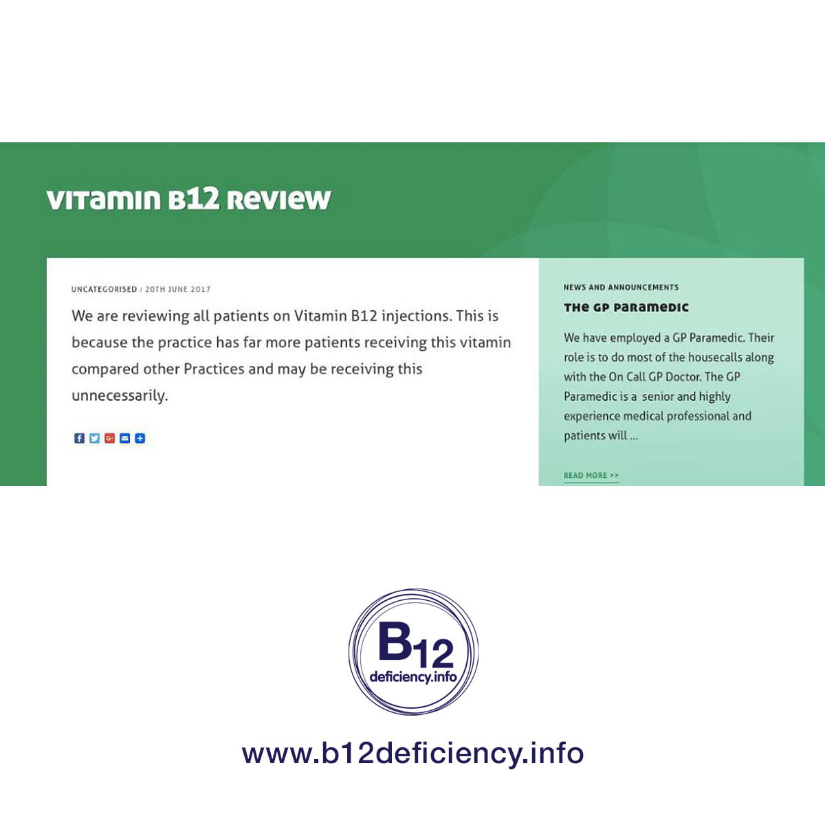 Are your vital B12 injections being stopped? FREE help options here….